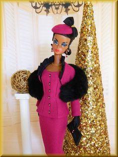 ~Aubrey~OOAK Holiday Fashion for Silkstone Barbie/Royalty~Joby  #JobyOriginals