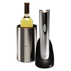 Saca-Rolhas/Abridor Elétrico com Porta-Vinho Térmico para Vinhos - Oster