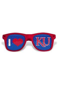 Kansas Jayhawks Red Plastic Womens Sunglasses