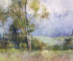 A Gentle Rain by Richard McKinley Pastel ~ 15 x 18