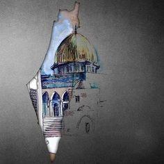 عاشت فلسطين حرة ابية وعاصمتها القدس العربية🇵🇸🇵🇸🇵🇸✌✌✌✌ Palestine Flag, A Level Art Sketchbook, Islamic Posters, Palestinian Embroidery, Islamic Paintings, Applis Photo, Islamic Wall Art, Islamic Wallpaper, Islamic Art Calligraphy