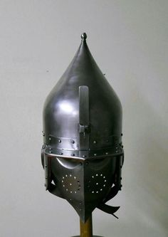 Head down view - Practice Chichak helmet - 16th C. Mamluk/Ottoman. Created by Edward Shayhutdinov, Kazan, Tatarstan, Russia.