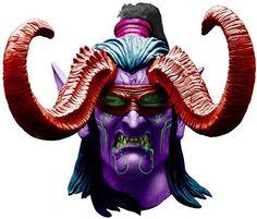 Rubie's Costume Co Men's World Of Warcraft Illidan Stormrage Deluxe Latex Mask