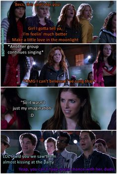 Bumper makes things clear to the most irritating Treble Maker of the a cappella world. Bechloe ^^