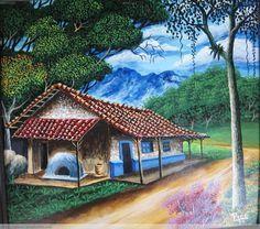 paisajes tipicos costarricenses en oleo - Buscar con Google