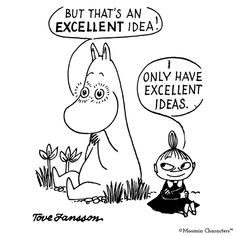 GBP - Excellent Idea Little My & Moomintroll Greeting Card Birthday Jansson Moomins & Garden Little My Moomin, Moomin Cartoon, Moomin Books, Moomin Valley, Tove Jansson, Birthday Greeting Cards, Card Birthday, Funny Cute, Comic Strips
