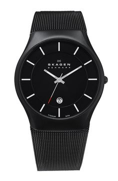 Free shipping and returns on Skagen 'Matthies' Titanium Mesh Strap Watch, 39mm at Nordstrom.com. Lightweight titanium forms a sleek, Scandinavian-style watch set on a fine metal mesh strap.