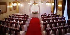 Wedding ceremony set up