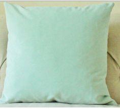 pastel green throw pillow