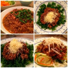 Minced beef with kale and veggie spaghetti #lchf