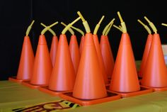 construction cone cups for construction themed birthday party