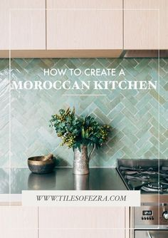 How to create a moroccan kitchen! Want to take your kitchen to the next level? Be sure to use these stunning Moroccan kitchen tiles available from TILES OF EZRA and take your home decor from drab to FAB. The tile used to achieve this beautiful Moroccan st Moroccan Tiles Kitchen, Kitchen Splashback Tiles, Aqua Kitchen, Kitchen Colors, New Kitchen, Kitchen Dining, Kitchen Decor, Decorating Kitchen, Colourful Kitchen Tiles
