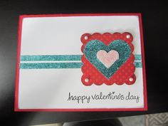 Valentine card by Kristen Cohen for the Scrapbook Adhesives by 3L Crafty Power Blog. Uses 3D Foam Hearts, Adhesive Hearts, Crafty Power Tape, along with #LawnFawn stamps and glitter.