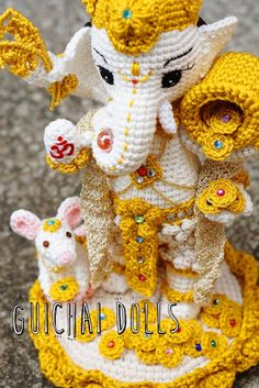 Lord Ganesha with Musika Made to Order от Guichai на Etsy