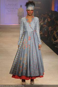 Candice Pinto walks the ramp for Anju Modi on Day 5 of the Lakme Fashion Week (LFW) Summer Resort 2014,