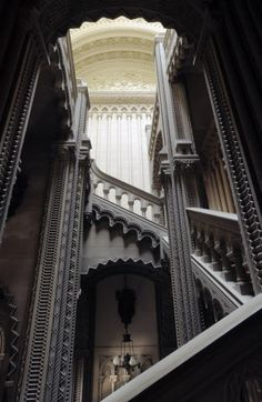 The Grand Staircase Penrhyn Castle - Wales