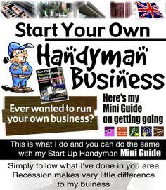 http://www.startyourownhandymanbusiness.webs.com #StartABusiness #HandymanBusiness