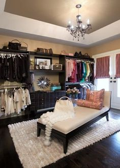 spare room ideas. As if I had a spare room. This would be my dream closet