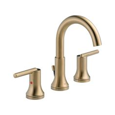 Buy the Delta Champagne Bronze Direct. Shop for the Delta Champagne Bronze Trinsic Widespread Bathroom Faucet with Metal Drain Assembly - Includes Lifetime Warranty and save. Widespread Bathroom Faucet, Lavatory Faucet, Bathroom Sink Faucets, Shower Faucet, Bathroom Fixtures, Brass Bathroom, Brass Faucet, Basement Bathroom, Shower Door