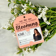 The Real Estate Market is Blooming TAG Promotional Business Real Estate Gifts, Real Estate Quotes, Real Estate Career, Real Estate Business, Real Estate Marketing, Interior Design And Real Estate, Home Selling Tips, Client Gifts, Gift Tags