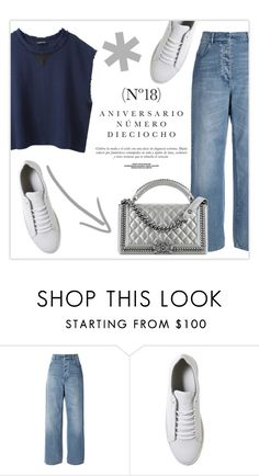 """""""lovelyhard"""" by namelif ❤ liked on Polyvore featuring Acne Studios, Vagabond, DAMIR DOMA, Chanel, Sinclair, StreetStyle, denim, metallic and polyvoreeditorial"""