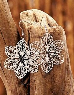 Filigree Blossom Drop Earrings