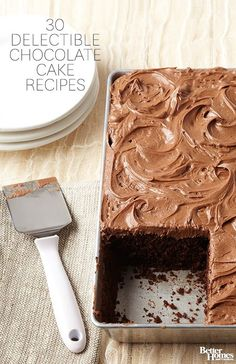 Holidays wouldn't be the same without a really good chocolate cake, and we have the best recipes around: http://www.bhg.com/recipes/desserts/cakes/chocolate-cakes/?socsrc=bhgpin112013chocolatecakerecipes