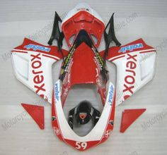 Ducati 848 / 1098 / 1198 2007-2009 Injection ABS Fairing - Xerox - Red/White | $659.00