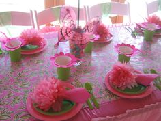 little girl birthday party ideas - Bing Images Butterfly Party, Butterfly Birthday, Fairy Birthday Party, Birthday Parties, 20 Birthday, Birthday Ideas, Birthday Table, Theme Parties, Princess Birthday