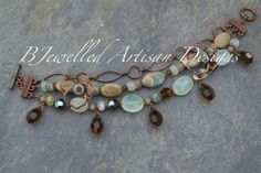 Garden of Roses Bracelet by BJewelledArtisan on Etsy
