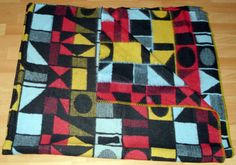 vintage blanket sample from our collection retro oude wollen deken alte wolldecke