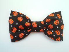 Halloween hair bow  pumpkin hair bow  trick or by GabeAndJuju