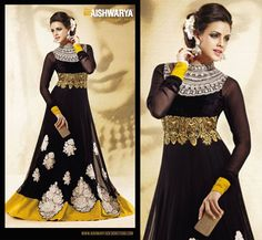 Bollywood inspired gorgeous anarkali suit from ‪#‎Aishwarya‬'s latest collection which is now available online at: http://www.aishwaryadesignstudio.com/bollywood-style-long-anarkali-suit-unstitched-suit