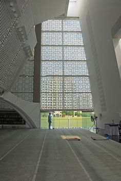 The main prayer hall of Assyafaah Mosque, Singapore.