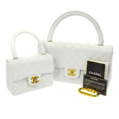 Chanel vintage CC Hand Bag Set White bag,Luxury Chanel cc Mini bag Source by aleascanlan Sets Chanel Bag Sale, Chanel Wallet, Chanel Purse, Chanel Handbags, Chanel Boy Bag, Authentic Chanel Bags, Vintage Chanel Bag, Italian Luxury Brands, Chanel Brand
