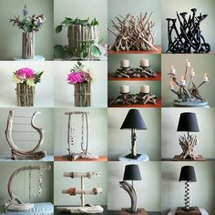 Just a few of our most popular items! www.driftingconcepts.com #driftwoodart #driftwoodhomedecor