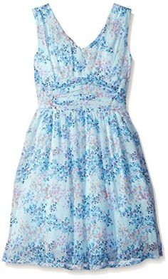 Speechless Big Girls Yuryu Floral Print Dress Periwinkle 7  gt  gt  gt  You 99375cce9