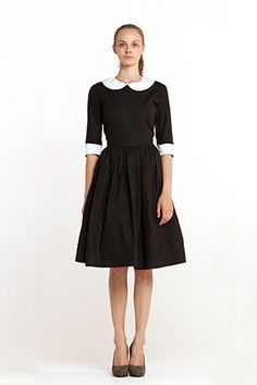 It looks a little like a nun dress. I used to want to be a nun.