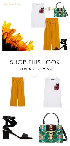 """morning"" by kety-de-jesus ❤ liked on Polyvore featuring Zara, Dolce&Gabbana and Gucci"