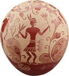 Joseph Lonewolf, pottery, Santa Clara pueblo