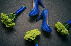 Blue bridal wedding shoes. Baguio, Philippines. Photography by Owen and Nikka www.owenandnikka.com