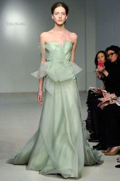 A mint green #wedding dress from Vera Wang, Spring 2012