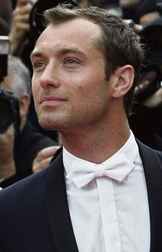 Jude Law White Bow Tie