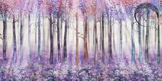Фреска волшебный лес | Производство фресок Bohowall