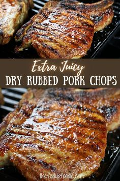 Extra juicy and flavorful, these Dry Rubbed Pork Chops are an easy to make and perfect for weeknight dinners. #DryRubPorkChops #PorkChopRubRecipe #DryRubPorkChopsInTheOven #BestDamnPorkChops Pork And Beef Recipe, Pork Chop Recipes, Meat Recipes, Real Food Recipes, Oven Pork Chops, Healthy Comfort Food, Comfort Foods, Food Dishes