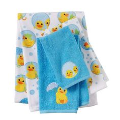 Jumping Beans Lucky Duck Bath Towels
