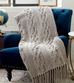 How To Crochet A Cablework Blanketnull