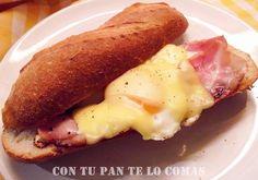 Bocata de bacon, huevo y queso