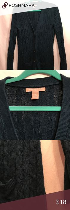 Banana Republic Dark Teal Cable Knit Cardigan Gently Used Banana Republic Sweaters Cardigans