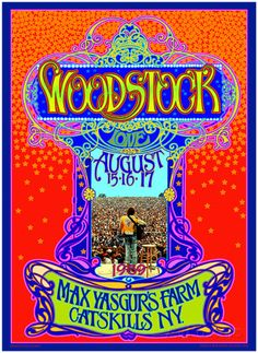 Woodstock Poster, 45th Anniversary Kunst von Bob Masse bei AllPosters.de